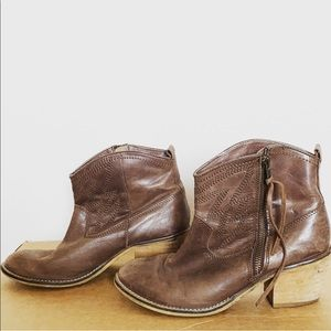 Genuine Leather Cowboy Boots